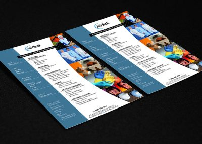 All-Teck Sales Sheet