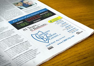 CBBCNJ Bailouts Newspaper Ad
