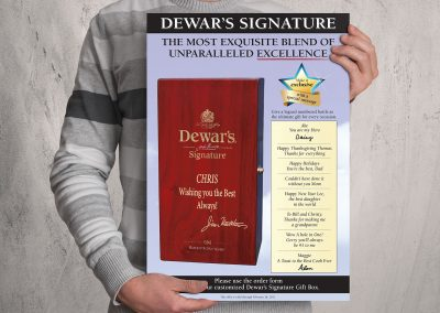 Dewars Personalized Gift Box Poster