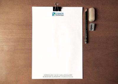 Edison Tax Logo & Letterhead