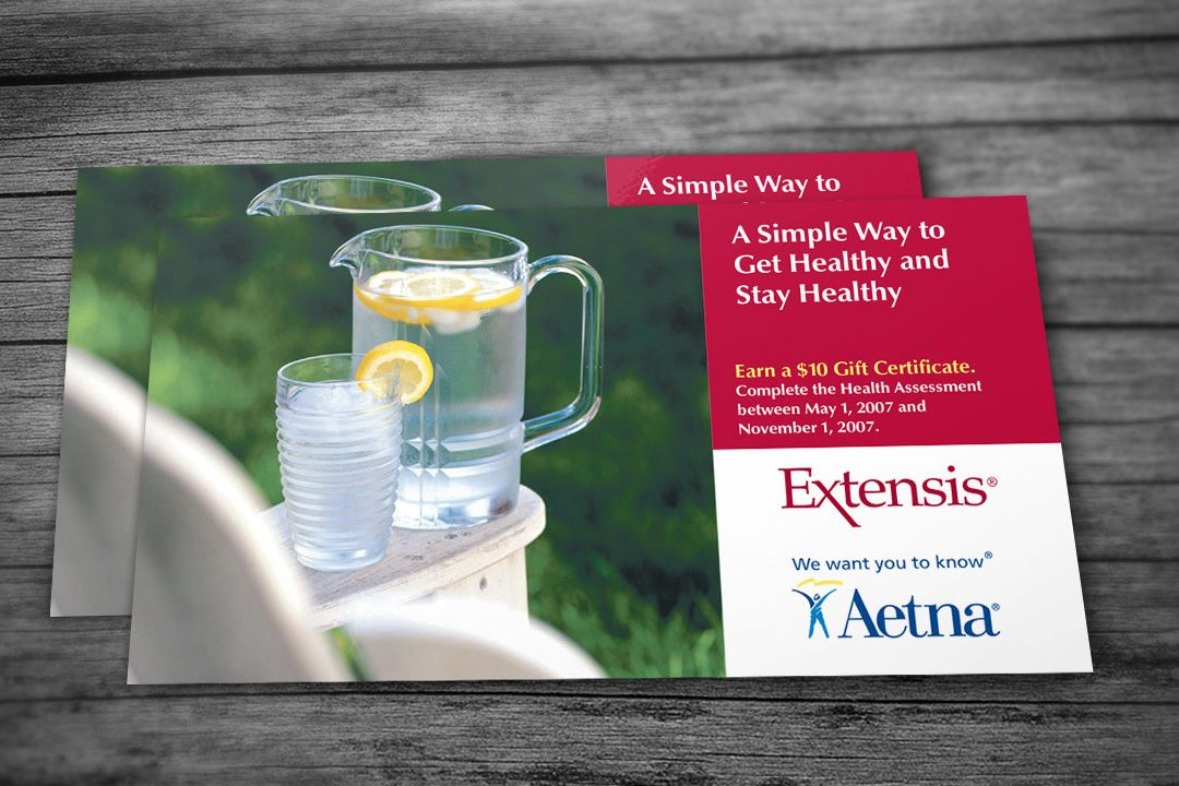Aetna and Extensis Postcard