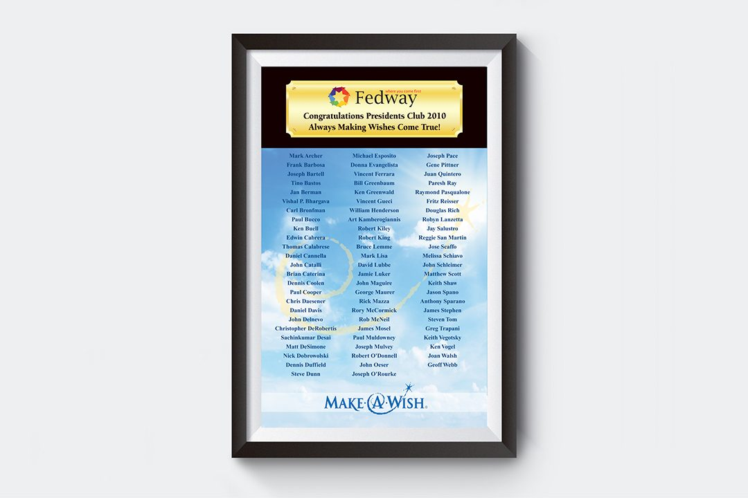 Fedway Make-A-Wish Poster