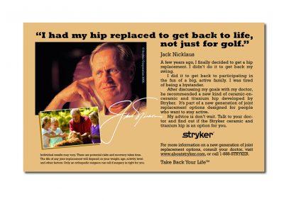 Stryker Jack Nicklaus Hip Ad